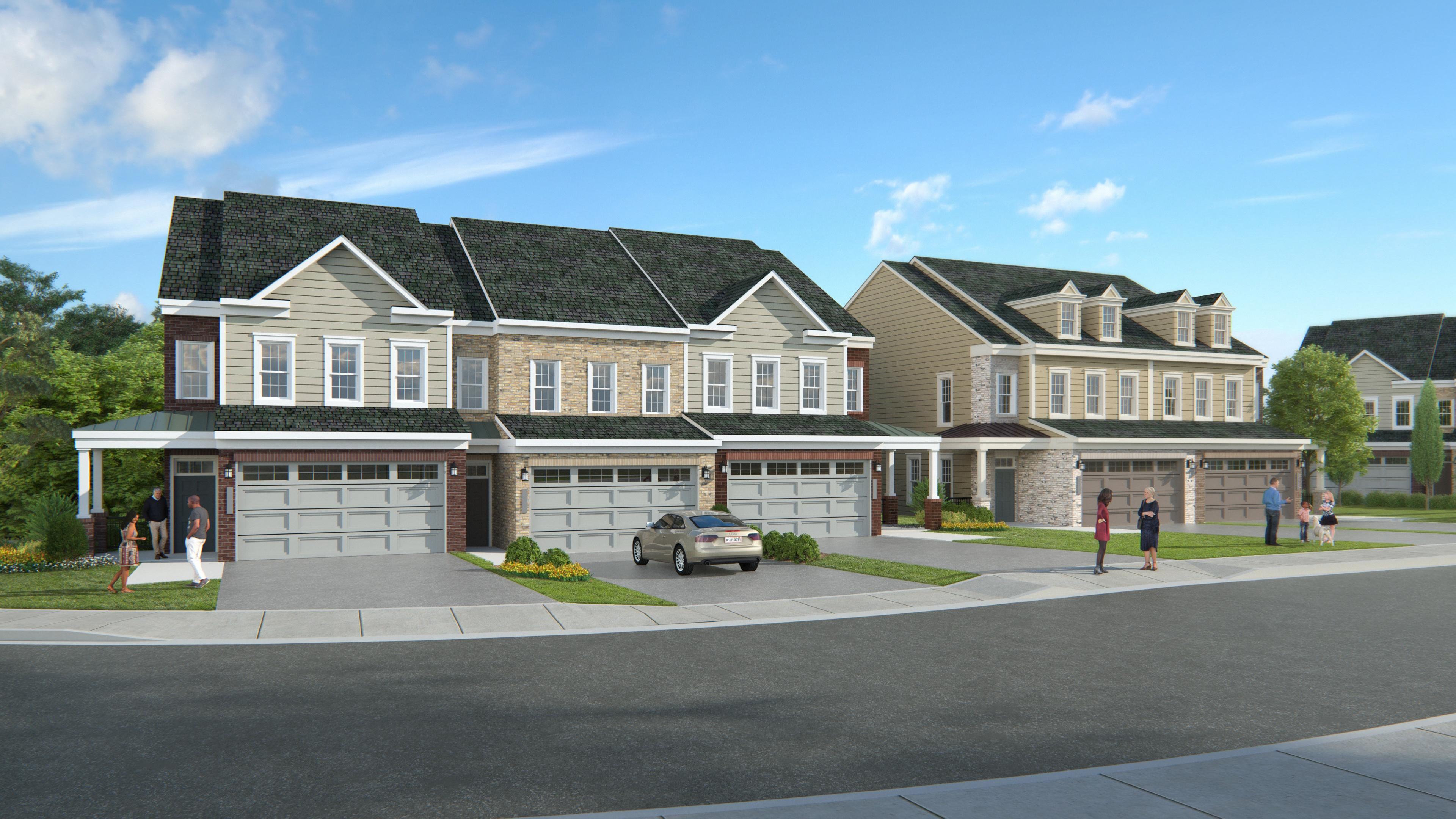 New homes rendering in Eden Brook
