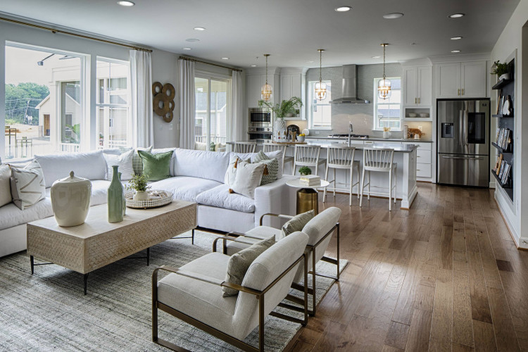 View from Living area to the kitchen - Sutton Model Home