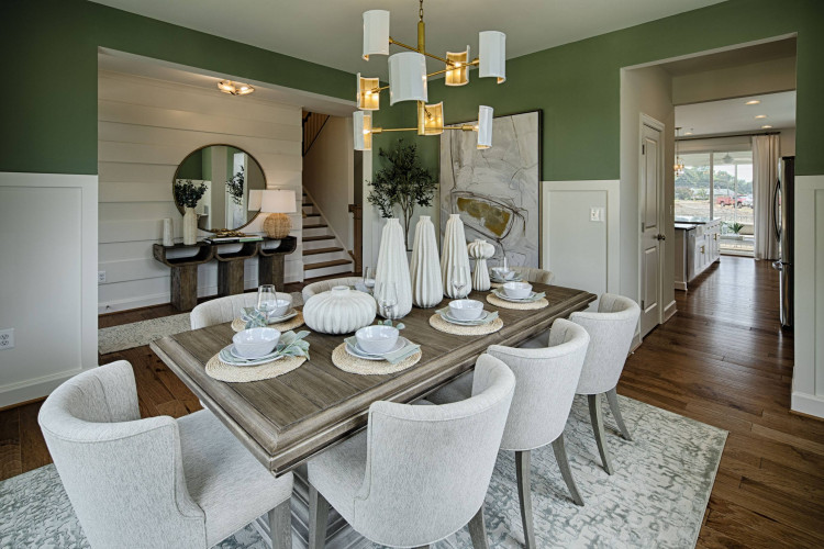Dining room at the Sutton Model Home at Tapestry