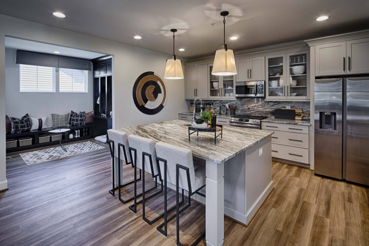 Kitchen at the Atwood model at Tapestry MD