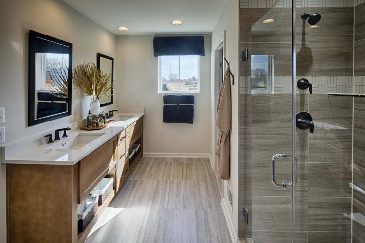 Master Bath the Atwood Model home at Tapestry